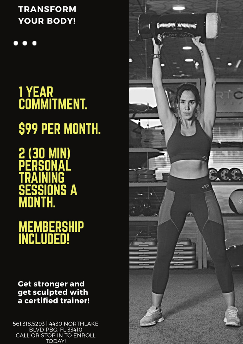 Personal Training Membership Special