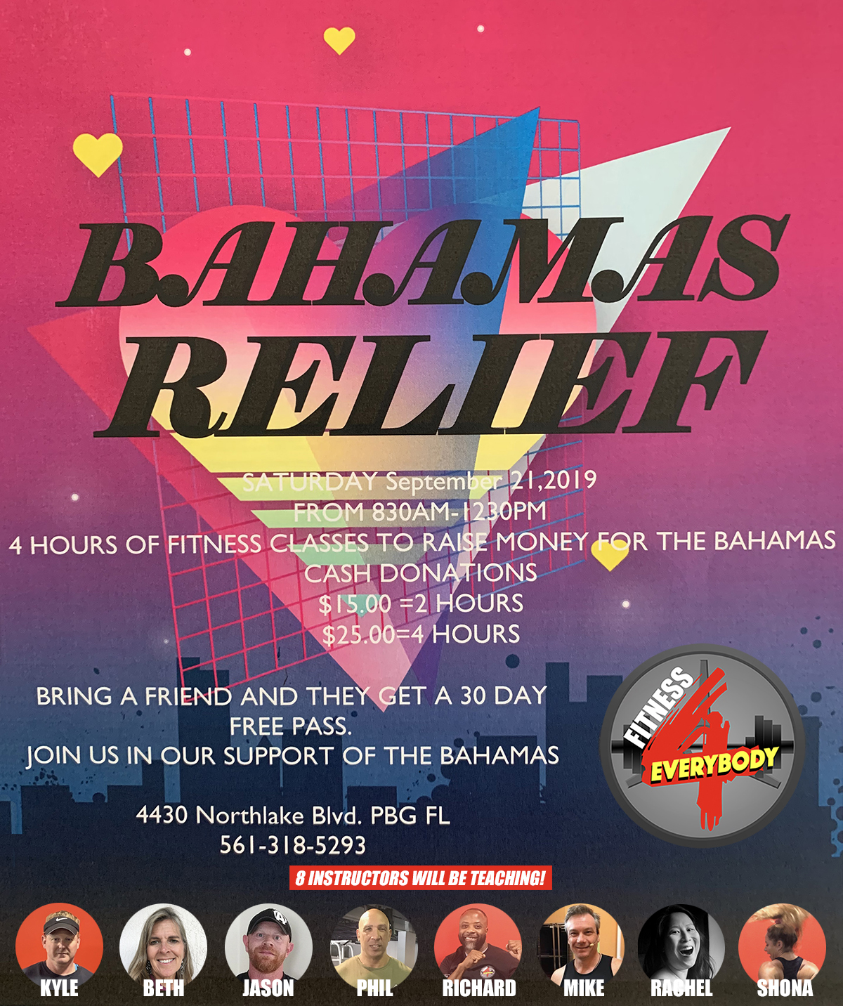 Bahamas Relief Zumba Masters Class - September 21th, 2019