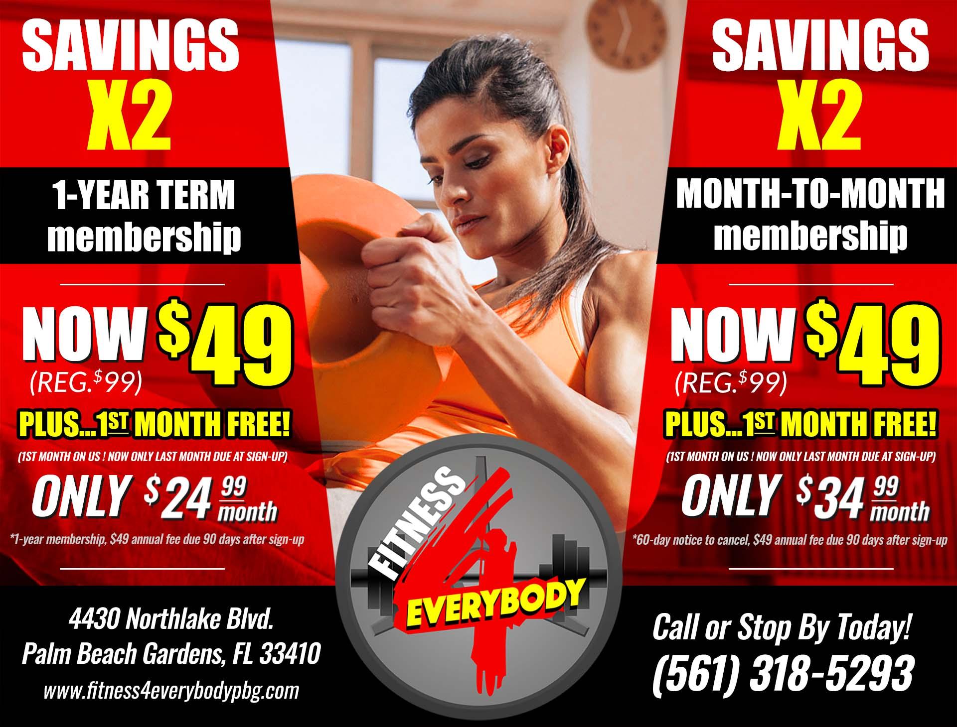 Savings X2 Membership Specials